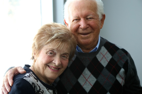 Nancy and Howard Kleinberg, Holocaust Survivors. (Michel Botman Photography, Toronto, February 2013)