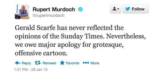 Rupert Murdoch tweet.