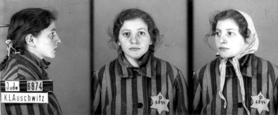 Auschwitz Identification photograph. Prisoner number 6875. (Courtesy of Yad Vashem images)