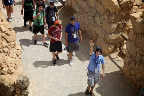 Noah Botman and Toronto students, Massada, Israel April 2013 (The March of the Living)