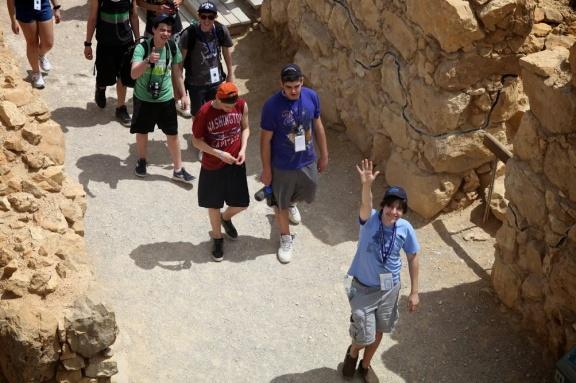 Noah Botman and Toronto students, Massada, Israel April 2013 (The March of the Living)