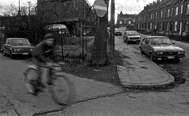 Rue des Forges.  Clabecq, Belgium, circa 1980. © Michel Botman Photography.